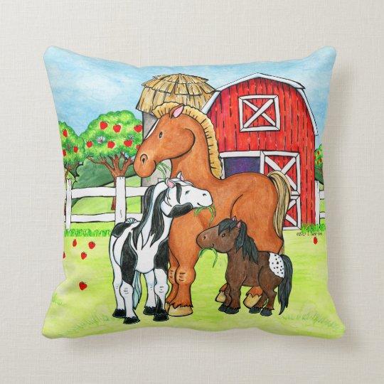 Horses on the Farm pillow