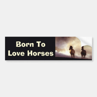 Horses On The Hill Bumper Sticker