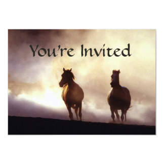 Horses On The Hill Invitation