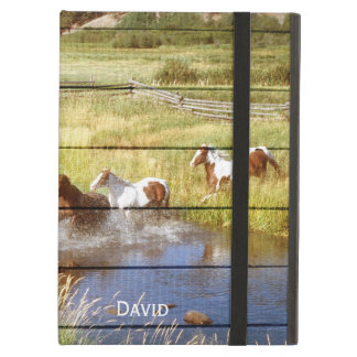 Horses on Wood iPad Air Case