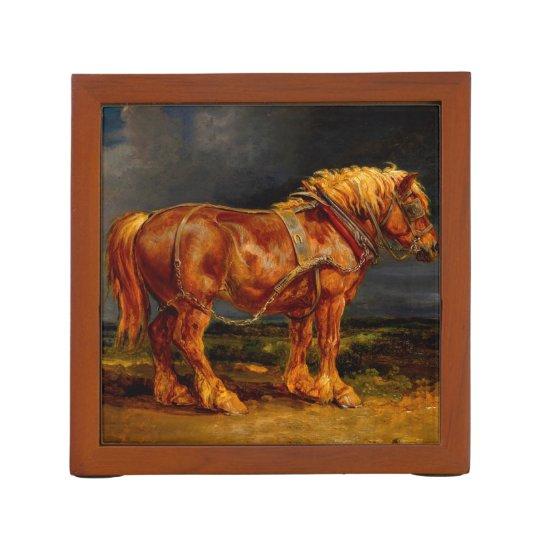 horses paintings oil desk organizer