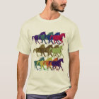 horses pattern, farm animals T-Shirt