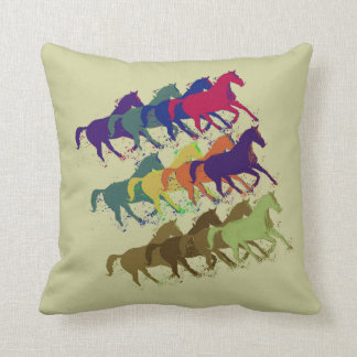 horses pattern farm style decor throw pillow