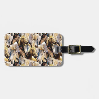 Horses pattern luggage tag