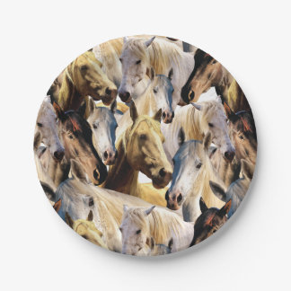 Horses pattern party paper plate