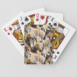 Horses pattern playing cards
