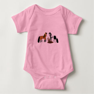 Horses Playing Baby Bodysuit