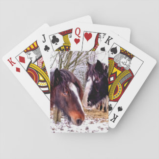 Horses Playing Cards
