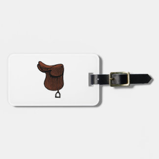 Horses - Preppy Equestrian Tack Saddle Color Luggage Tag
