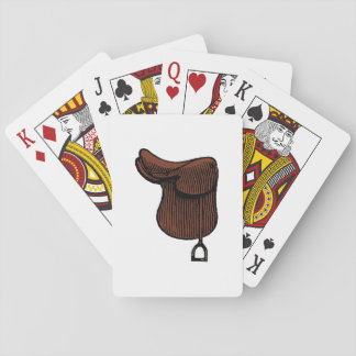 Horses - Preppy Equestrian Tack Saddle Color Playing Cards