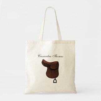 Horses - Preppy Equestrian Tack Saddle Color Tote Bag