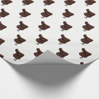 Horses - Preppy Equestrian Tack Saddle Color Wrapping Paper