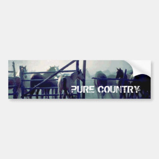 Horses Pure Country Bumper Sticker