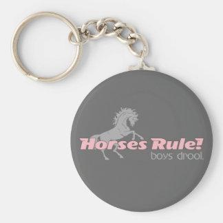 Horses Rule Boys Drool Keychain