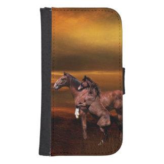 Horses Samsung S4 Wallet Case