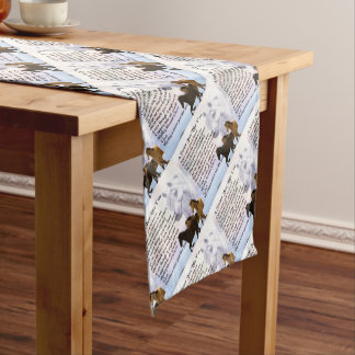 Horses  Sister Poem Short Table Runner