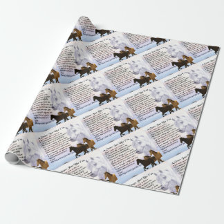 Horses  Sister Poem Wrapping Paper