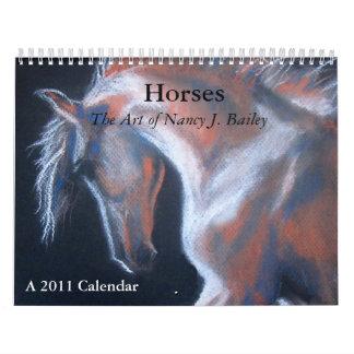 Horses, the Art of Nancy J. Bailey Calendars