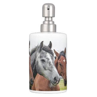 Horses Toothbrush Holder and Soap Dispenser Set