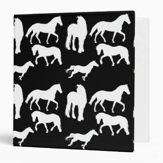Horses Vinyl Binder