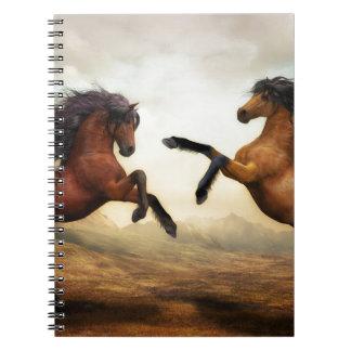 Horses Wild Horses Digital Art Nature Landscape Notebooks