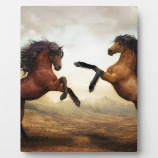 Horses Wild Horses Digital Art Nature Landscape Plaque