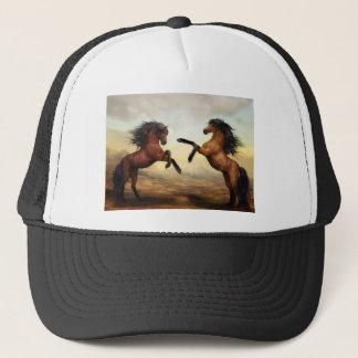 Horses Wild Horses Digital Art Nature Landscape Trucker Hat