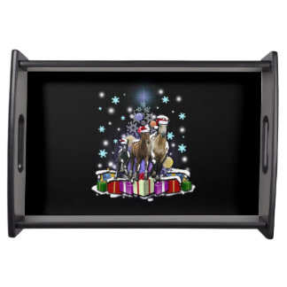 Horses with Christmas Styles Serving Tray