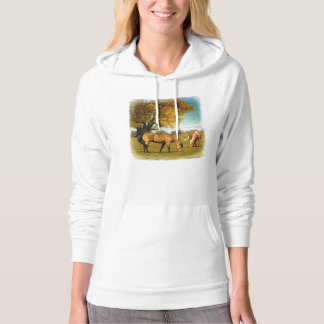 Horses With Fall Colors Ladies Hoodie
