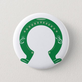 Horseshoe 2 Inch Round Button