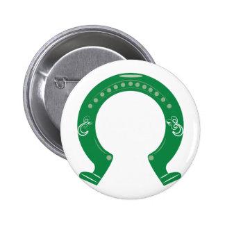 Horseshoe 2 Inch Round Button