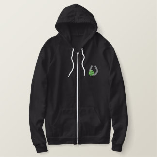 Horseshoe and 4- Clover Embroidered Hooded Sweatshirts