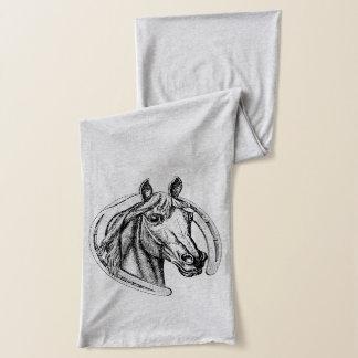 Horseshoe and Horse Scarf