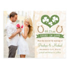 Horseshoe and Shamrock Save the Date Postcard