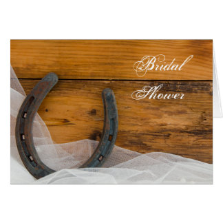 Horseshoe and Veil Barn Bridal Shower Invitation