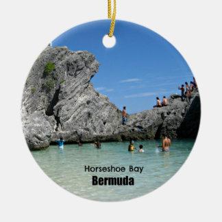Horseshoe Bay, Bermuda Ceramic Ornament