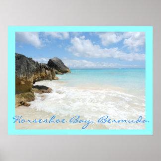 Horseshoe bay, Bermuda Poster