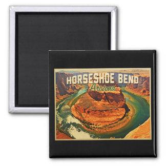Horseshoe Bend Arizona Square Magnet