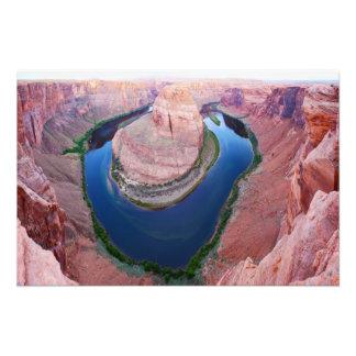 Horseshoe bend Arizona top view Photo Print