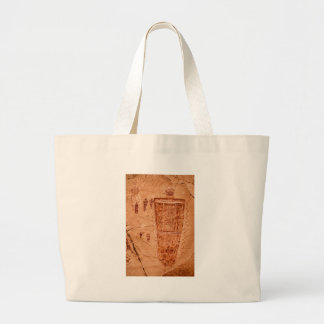 Horseshoe Canyon Great Gallery Figure Large Tote Bag