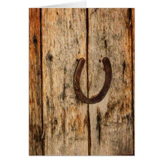 Horseshoe Card