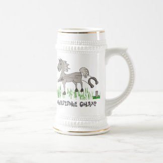 horseshoe champ beer stein