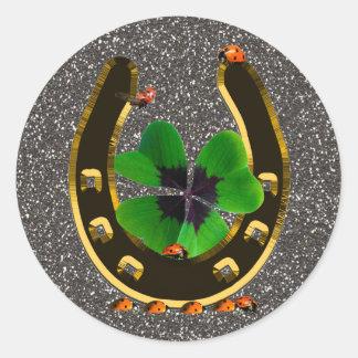 Horseshoe Classic Round Sticker