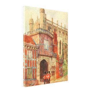 Horseshoe Cloisters, Windsor Castle, England Canvas Print