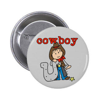 Horseshoe Cowboy Tshirts and Gifts 2 Inch Round Button