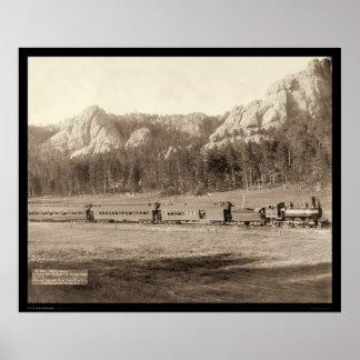 Horseshoe Curve near Custer City SD 1891 Poster