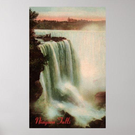 Horseshoe Falls at Niagara Poster