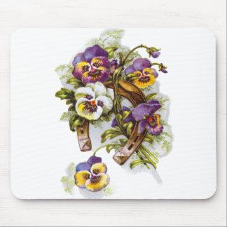 HorseShoe Florals Mouse Pad