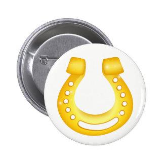 Horseshoe good luck 2 inch round button