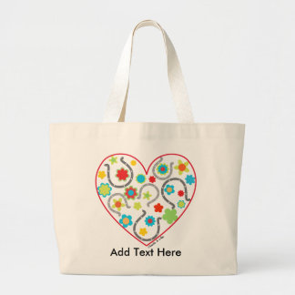 Horseshoe Heart Tote Bag